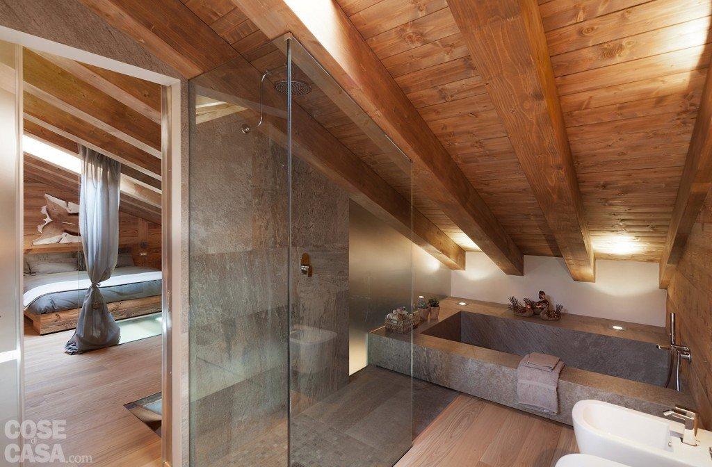Idee Bagno Nel Sottotetto : Idee Casa Legno E Pietra