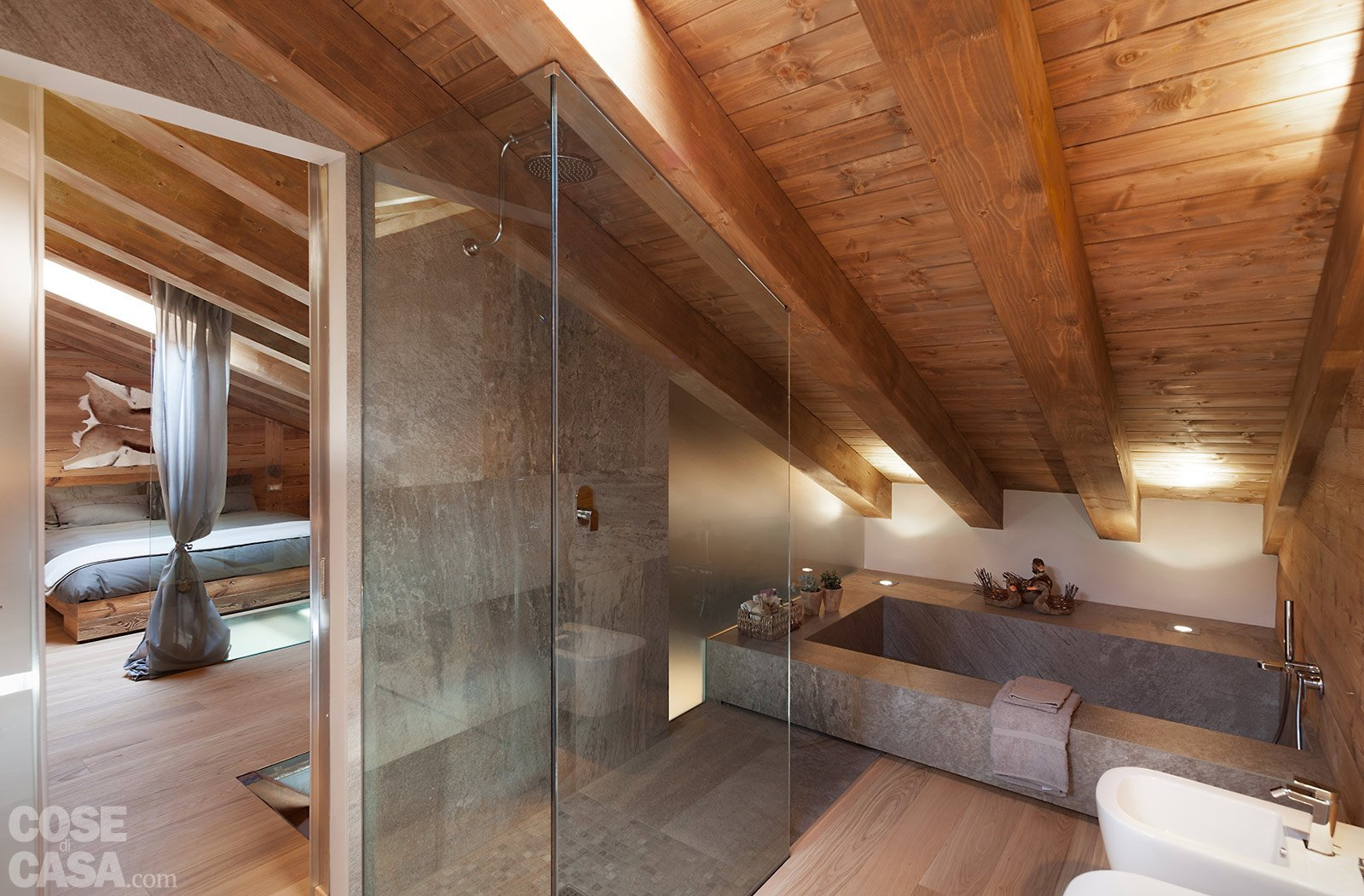 Case Di Montagna Interni : Chalet moderno una casa di montagna in stile rustico