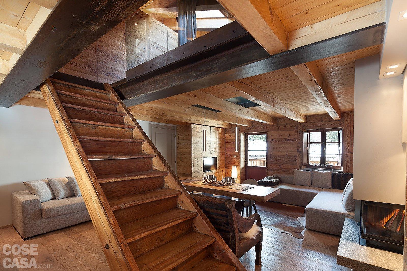 Atmosfera da chalet in una casa moderna cose di casa for Progetto di casa loft