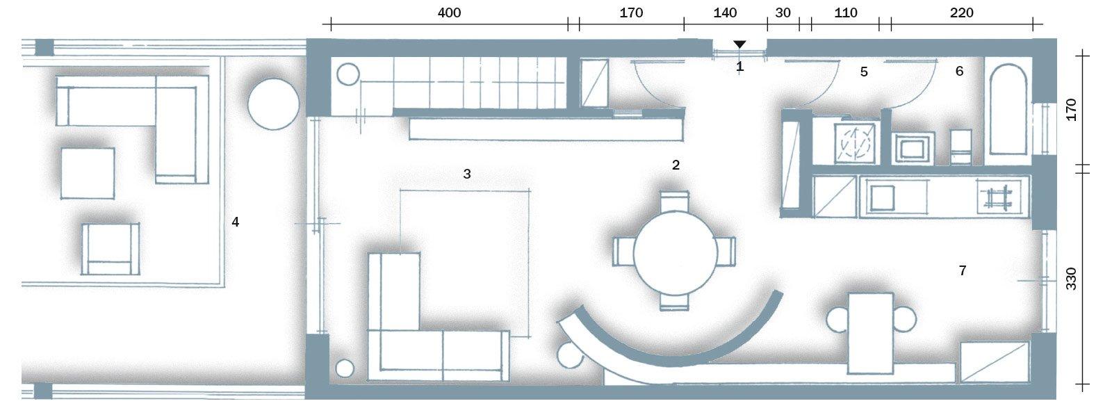 Una casa alla ricerca della luce cose di casa for Come progettare una pianta del piano interrato