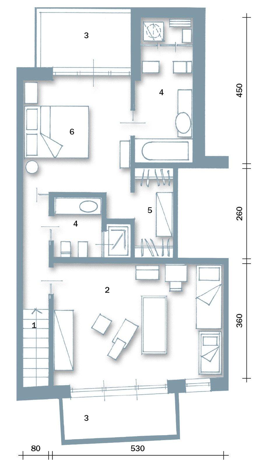60 50 mq una casa con elementi a scomparsa cose di casa for 2 piani piano cabina storia