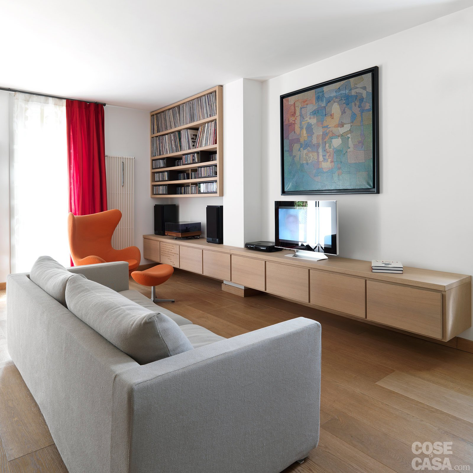 Una casa con zona giorno open space e camera sottotetto - Open space casa ...
