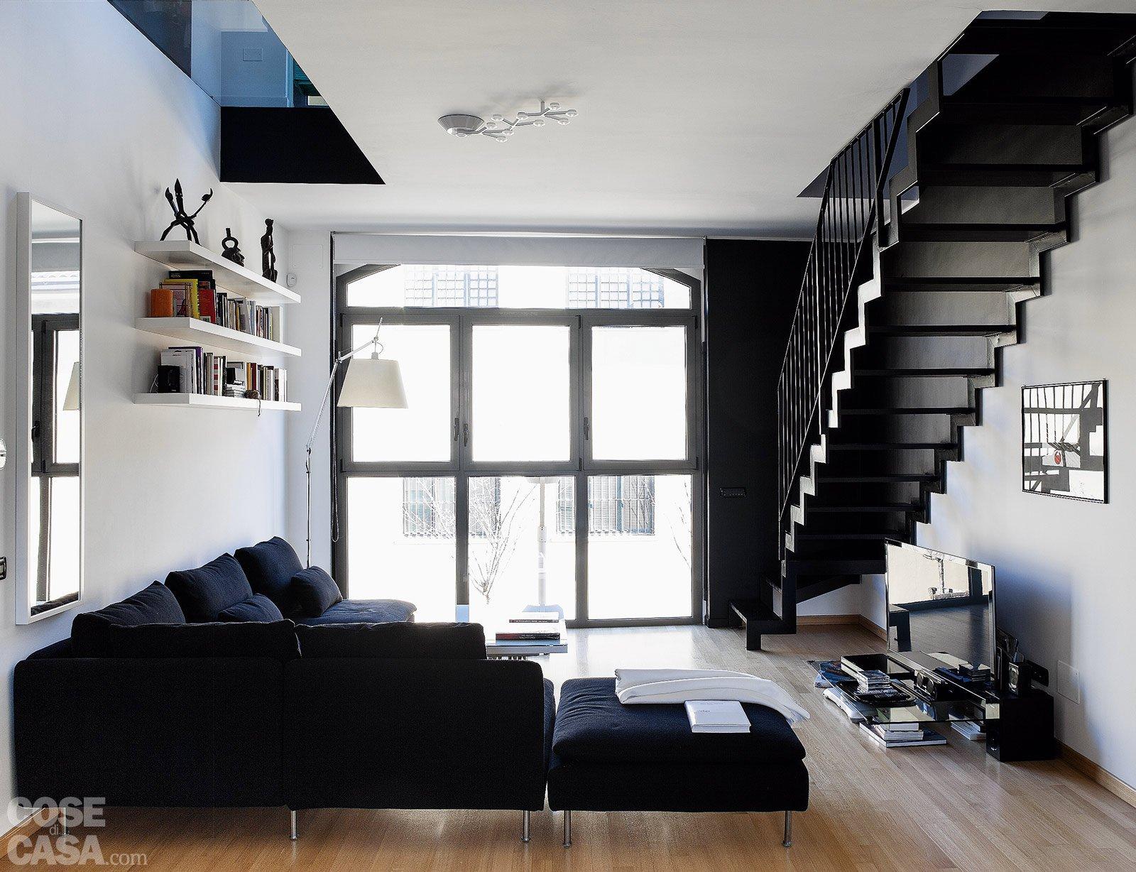 60+50 mq: una casa con elementi a scomparsa - cose di casa - Soggiorno Ad Angolo Moderno 2