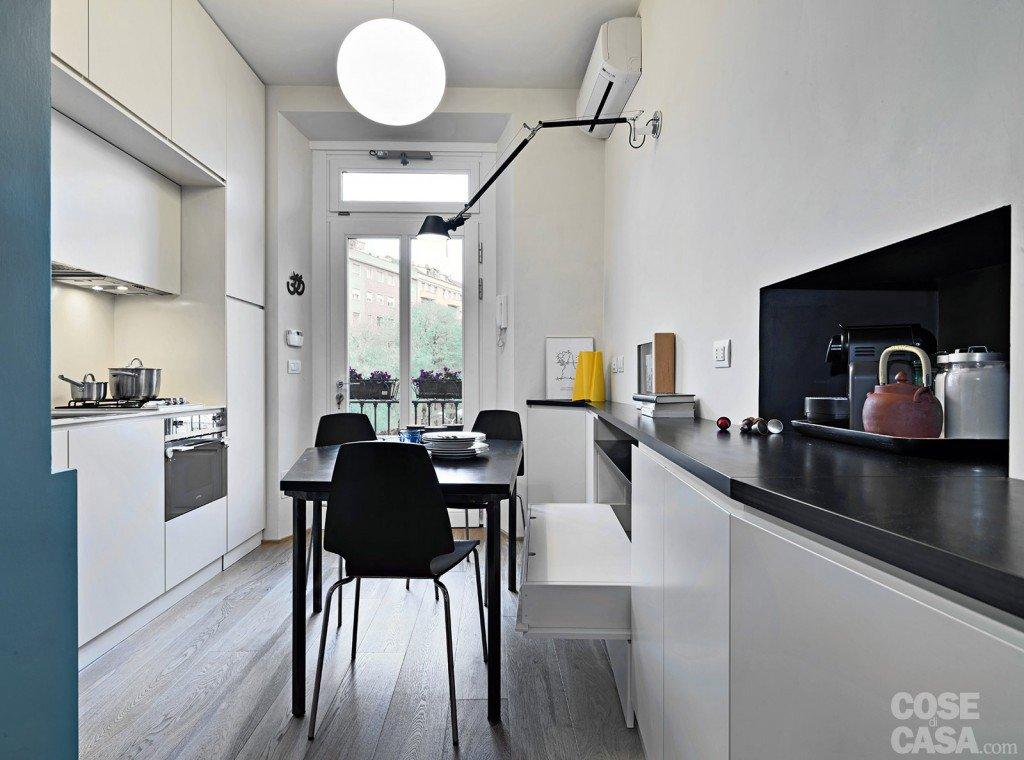 33 mq una casa sfruttata in lunghezza cose di casa - Lunghezza cucina ...