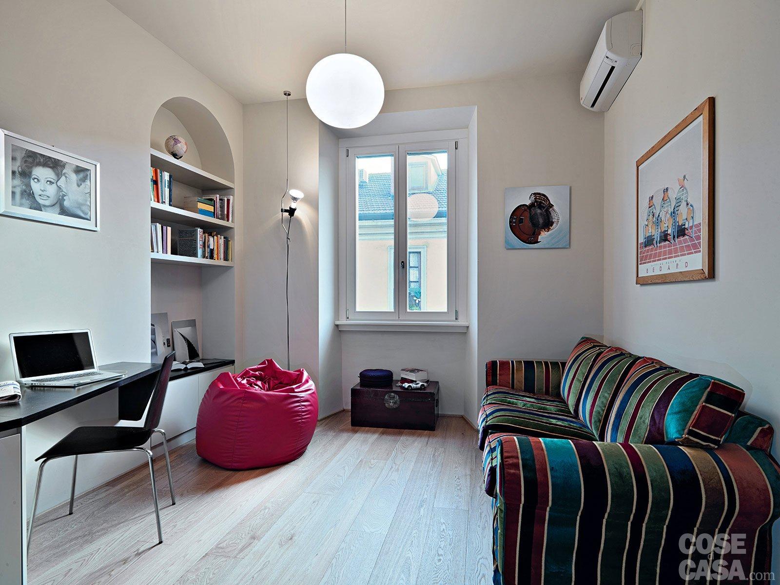 33 mq una casa sfruttata in lunghezza cose di casa - Camera soggiorno ...