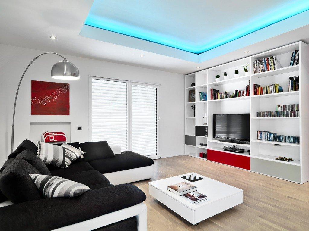 ... Rosso E Bianco: Rosso ce una scrivania di vetro moderno arredamento e