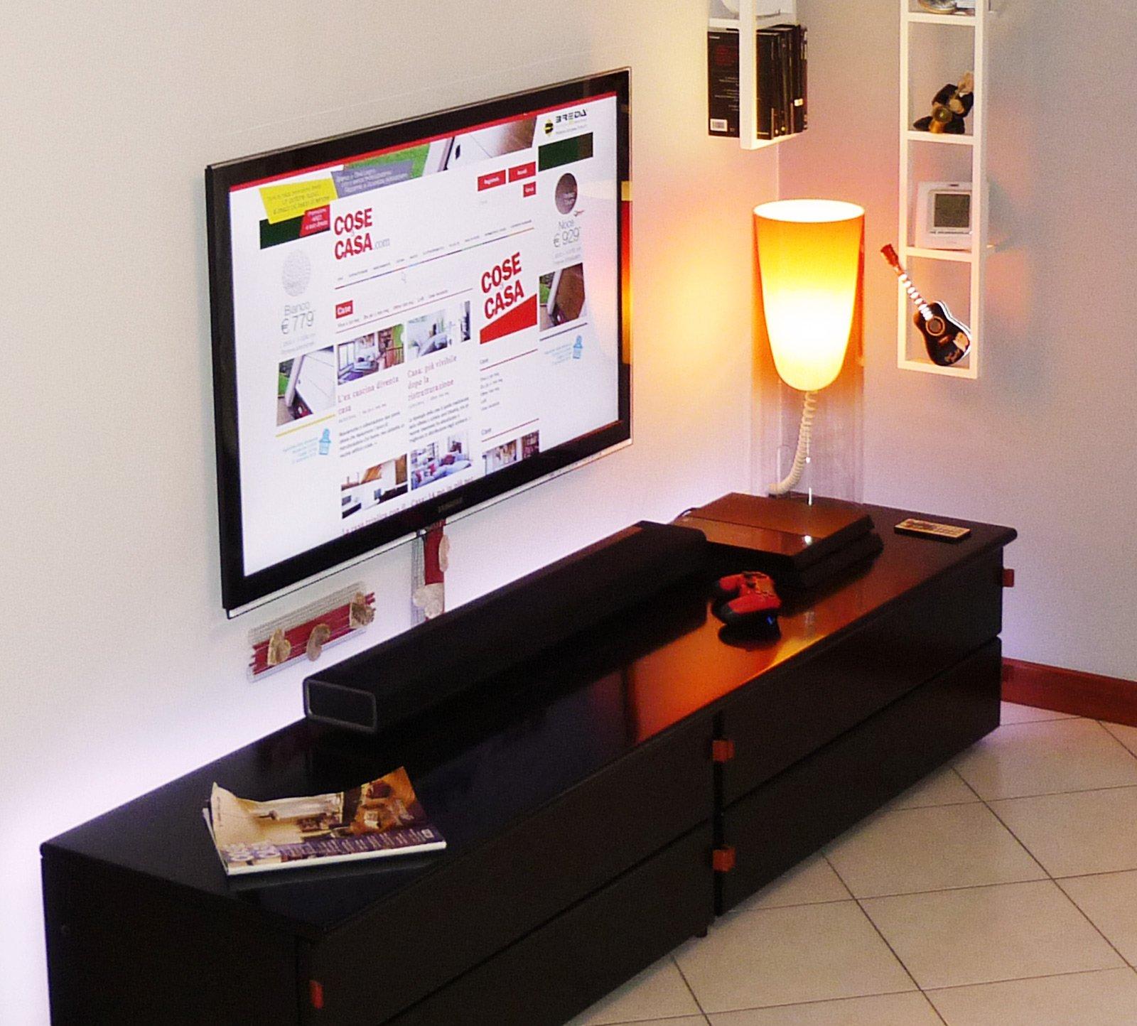come nascondere sulla parete i fili della tv cose di casa