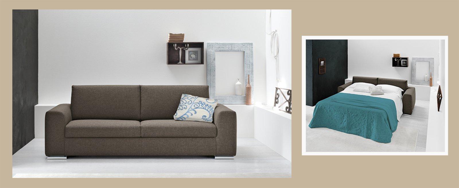 Divano o letto imbottiti trasformabili cose di casa for Divano senza schienale