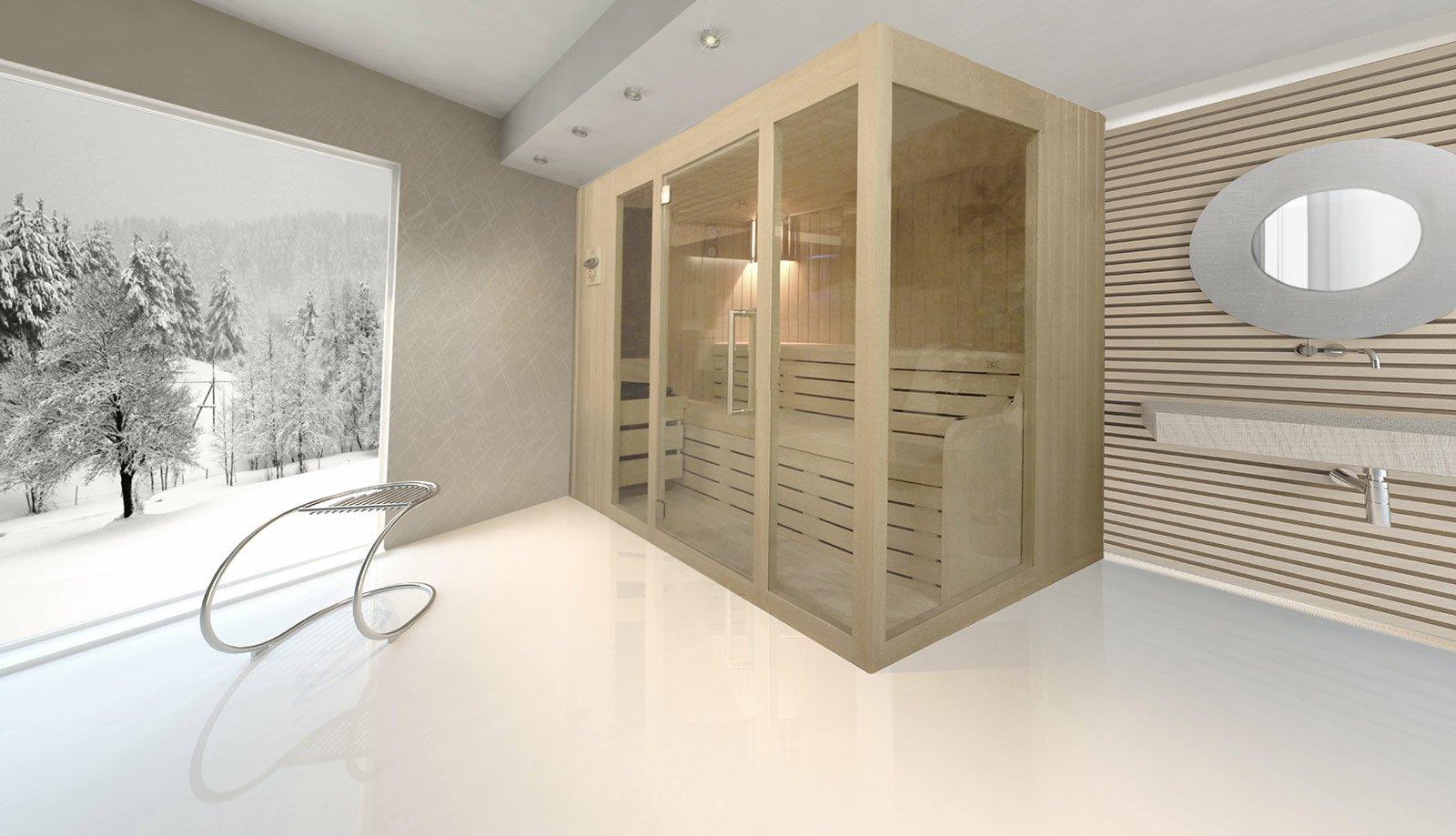 Awesome la sauna finlandese luxorystar di emoplast saune ha struttura in legno ricoperto da - Bagno turco fai da te ...