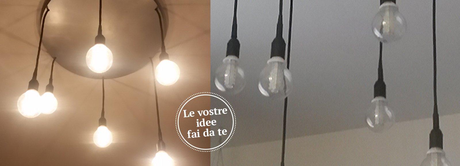 Illuminazione Con Cavi Dacciaio : Lampadario a sospensione low cost ...