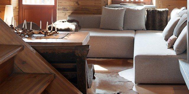 Atmosfera da chalet in una casa moderna