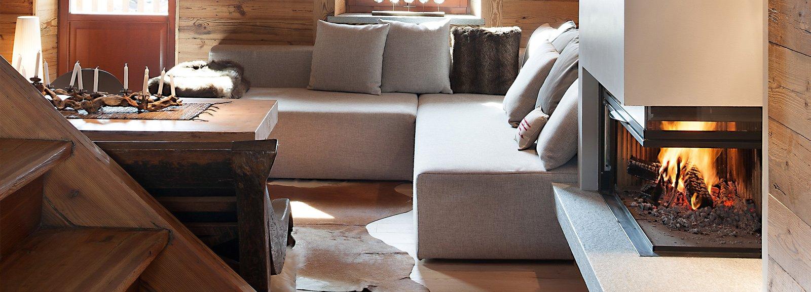 Atmosfera da chalet in una casa moderna cose di casa - Tende casa montagna ...