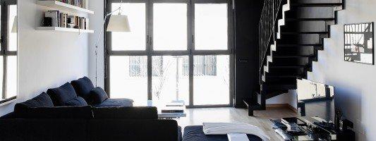 casa di 60 mq con soppalco : Loft: una casa con materiali protagonisti e soppalco per aumentare la ...