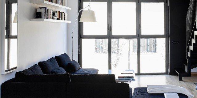 60+50 mq: una casa con elementi a scomparsa