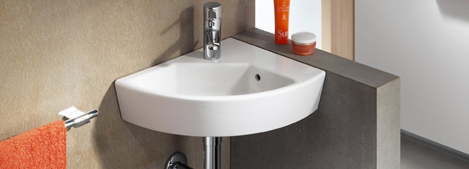 Lavabi ad angolo cose di casa - Lavandino angolo bagno ...