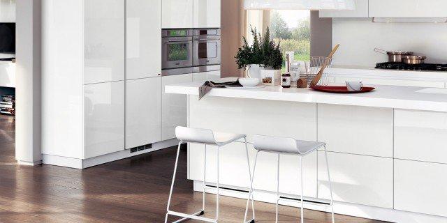 Cucina la voglio tutta bianca cose di casa - Cucina bianca lucida ...