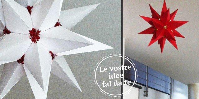 Segnaposto Natalizi Di Carta Fai Da Te.Origami Stelle Per Natale Cose Di Casa