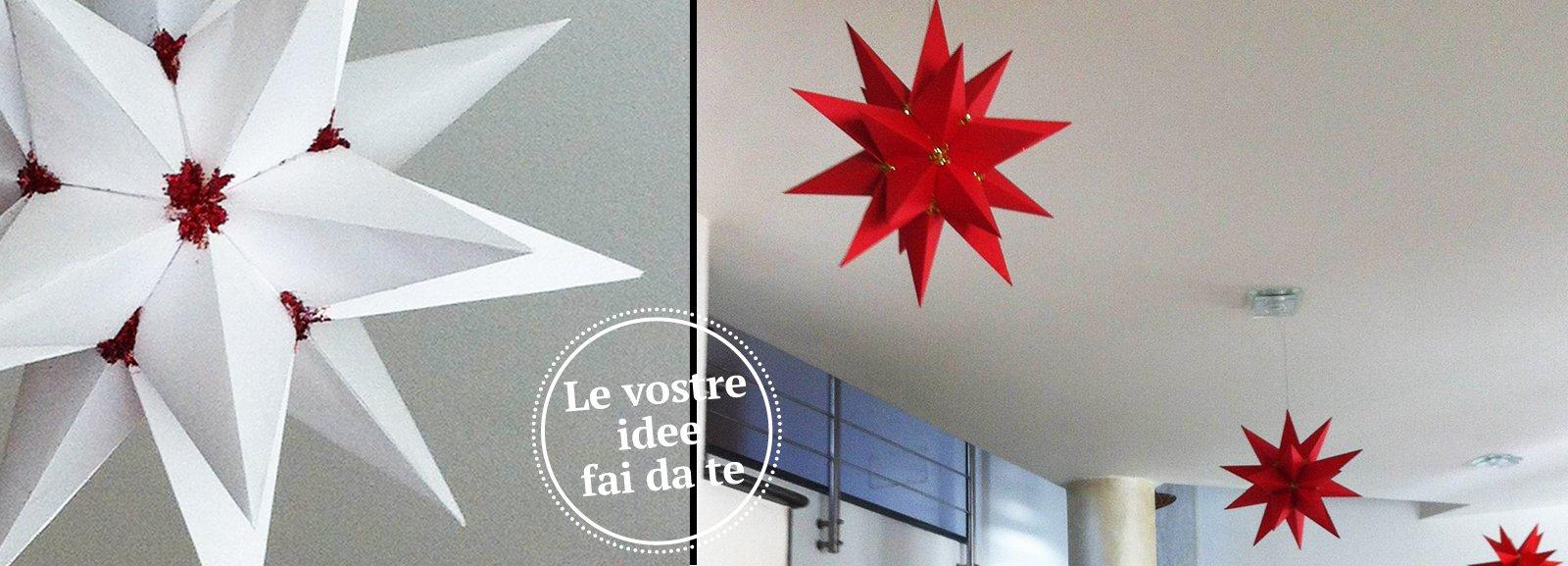 Carta Per Mobili : Origami stelle per natale cose di casa