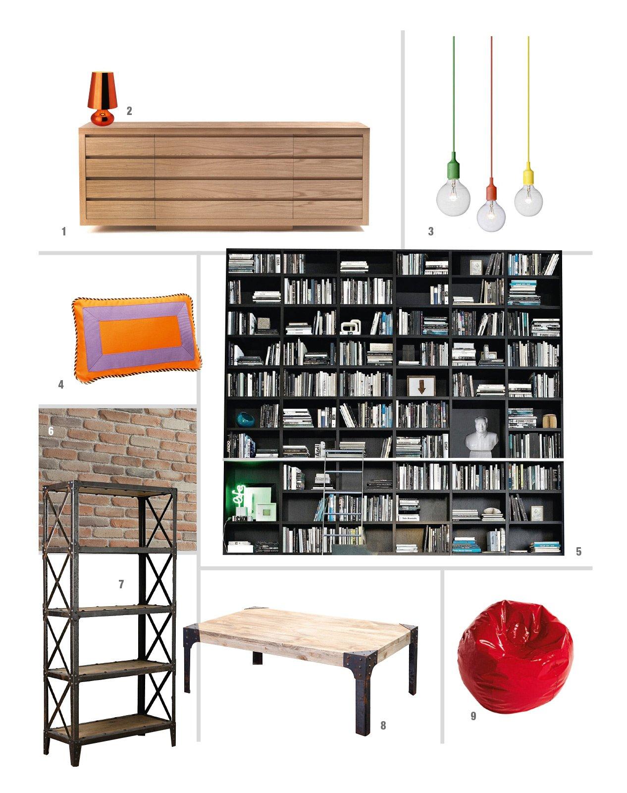 Divano letto stile industriale idee per il design della casa for Salotto stile industriale