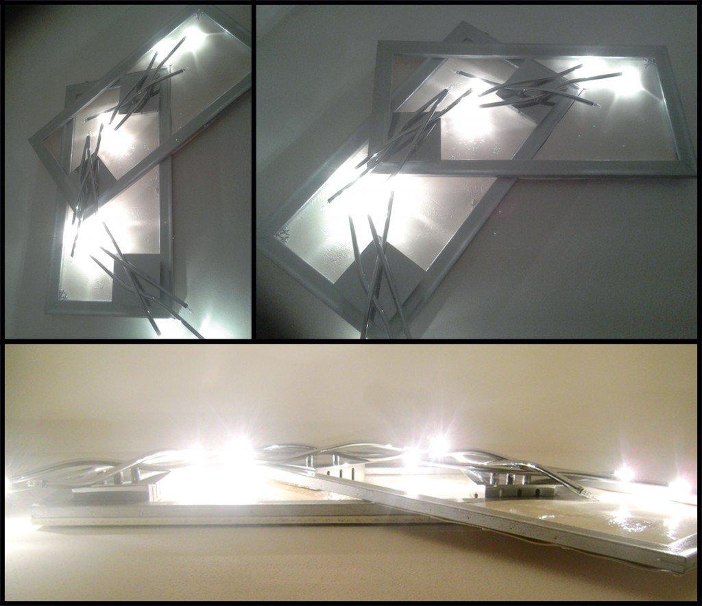 Un quadro di luci riciclando una cornice cose di casa for Cornici quadri fai da te