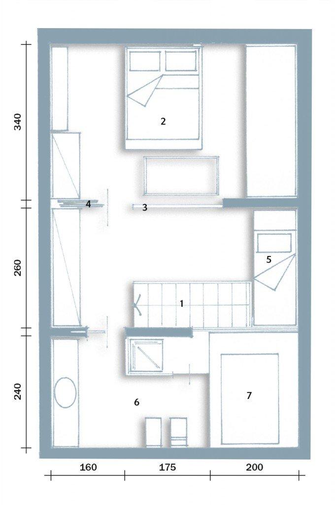 Atmosfera da chalet in una casa moderna cose di casa for Casa moderna pianta