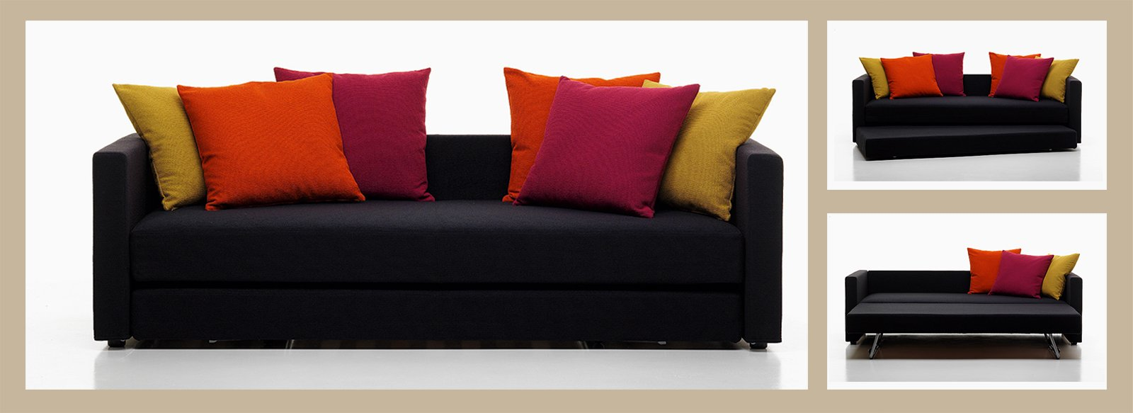 Divano o letto imbottiti trasformabili cose di casa - Ikea cuscini letto ...