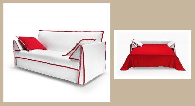 Divano o letto imbottiti trasformabili cose di casa - Posizione letto rispetto alla porta ...