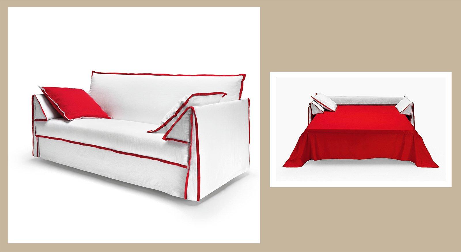 Divano o letto imbottiti trasformabili cose di casa - Divano ecopelle che si spella ...