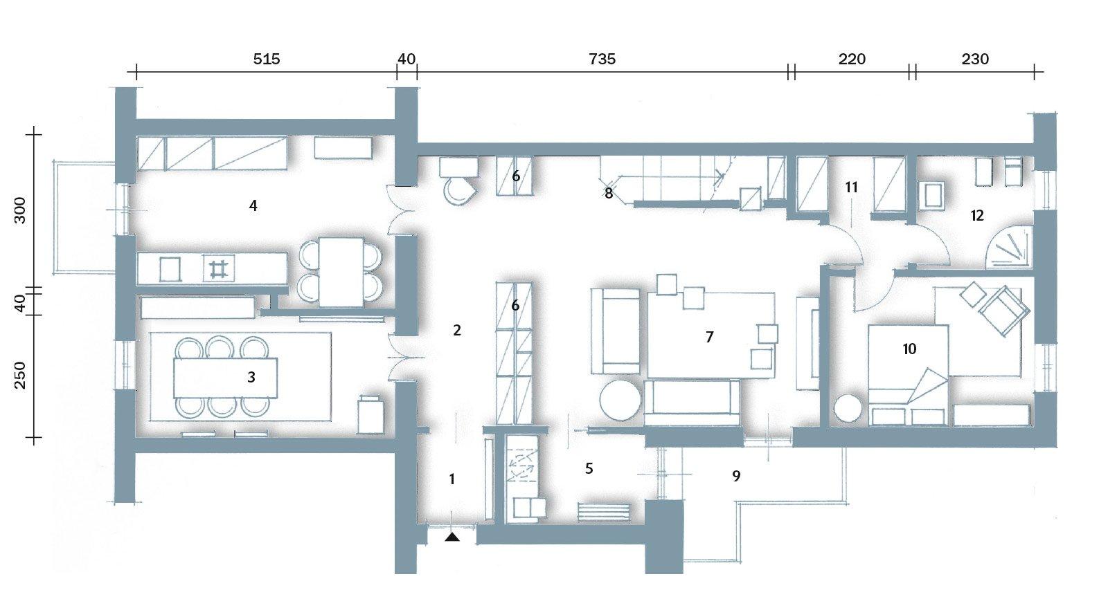 Una casa con vani a scomparsa cose di casa for Come disegnare un piano di casa
