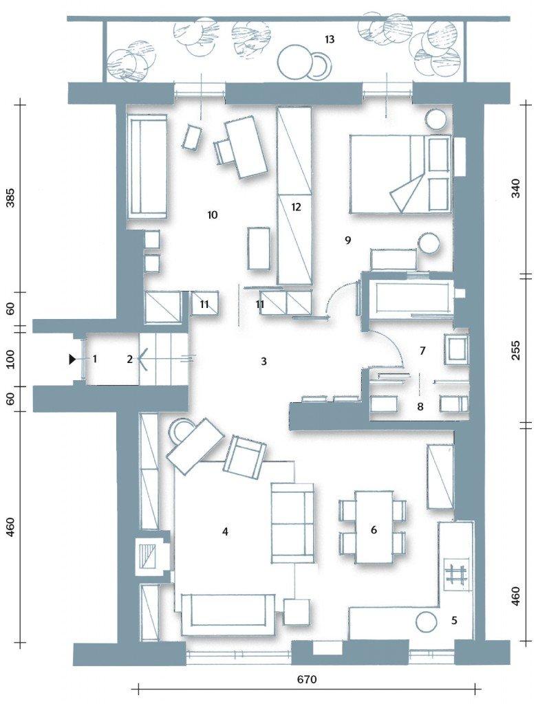 70 mq la casa migliora cos cose di casa - Planimetria camera da letto ...