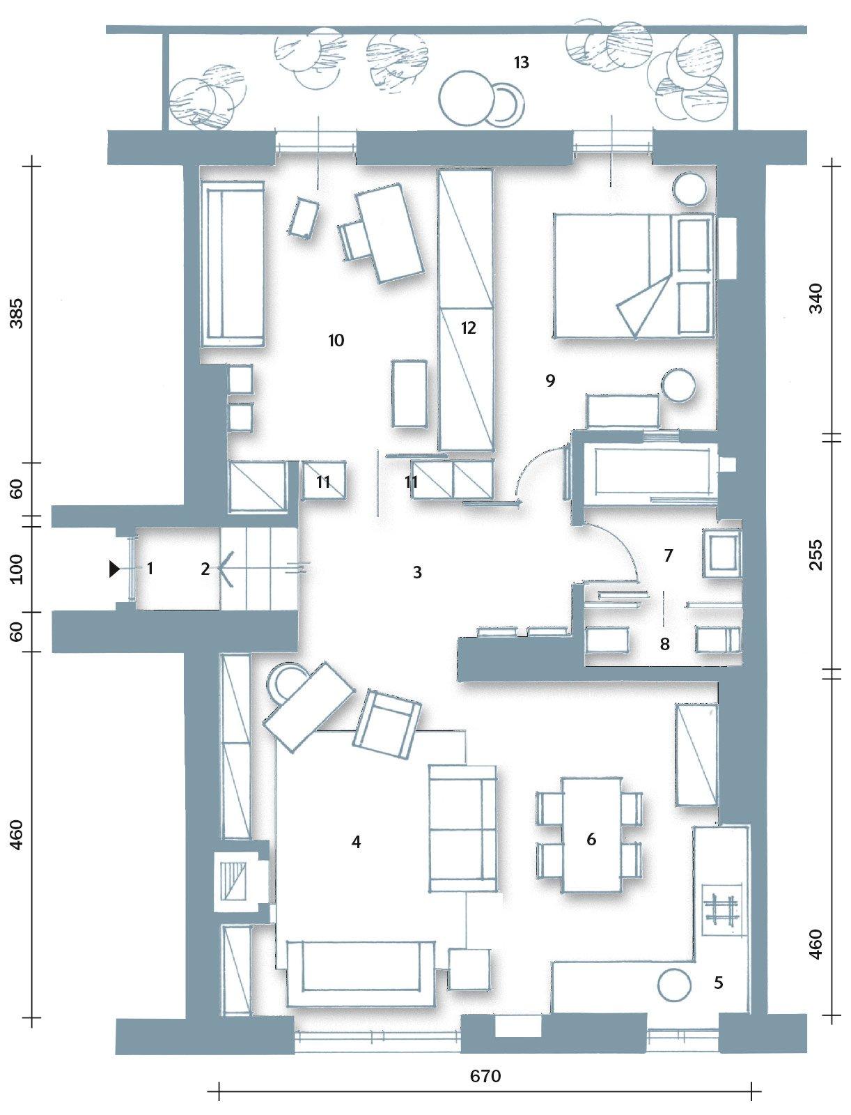 70 mq la casa migliora cos cose di casa for 3 piani di casa bagno 1 camera da letto