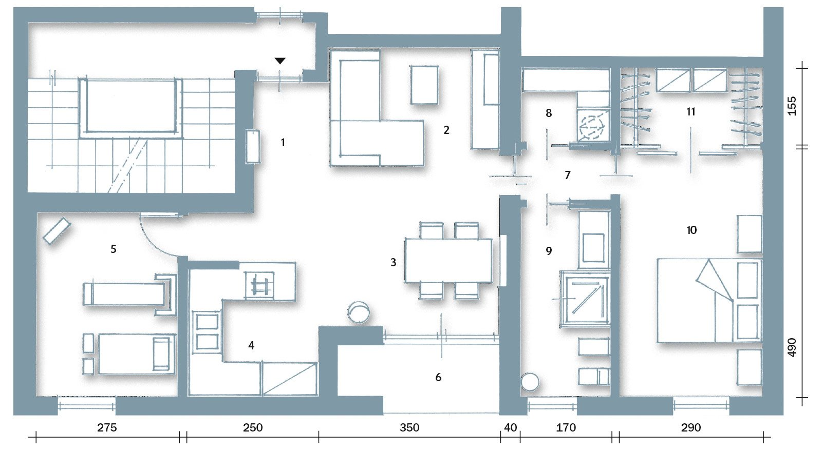 Casa con 10 trucchi 83 mq sembrano pi grandi cose di for Monolocale dwg