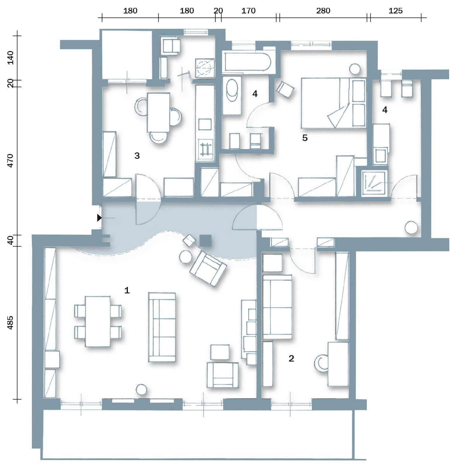 Ambienti contemporanei per una casa di taglio tradizionale for Planimetrie per costruire una casa