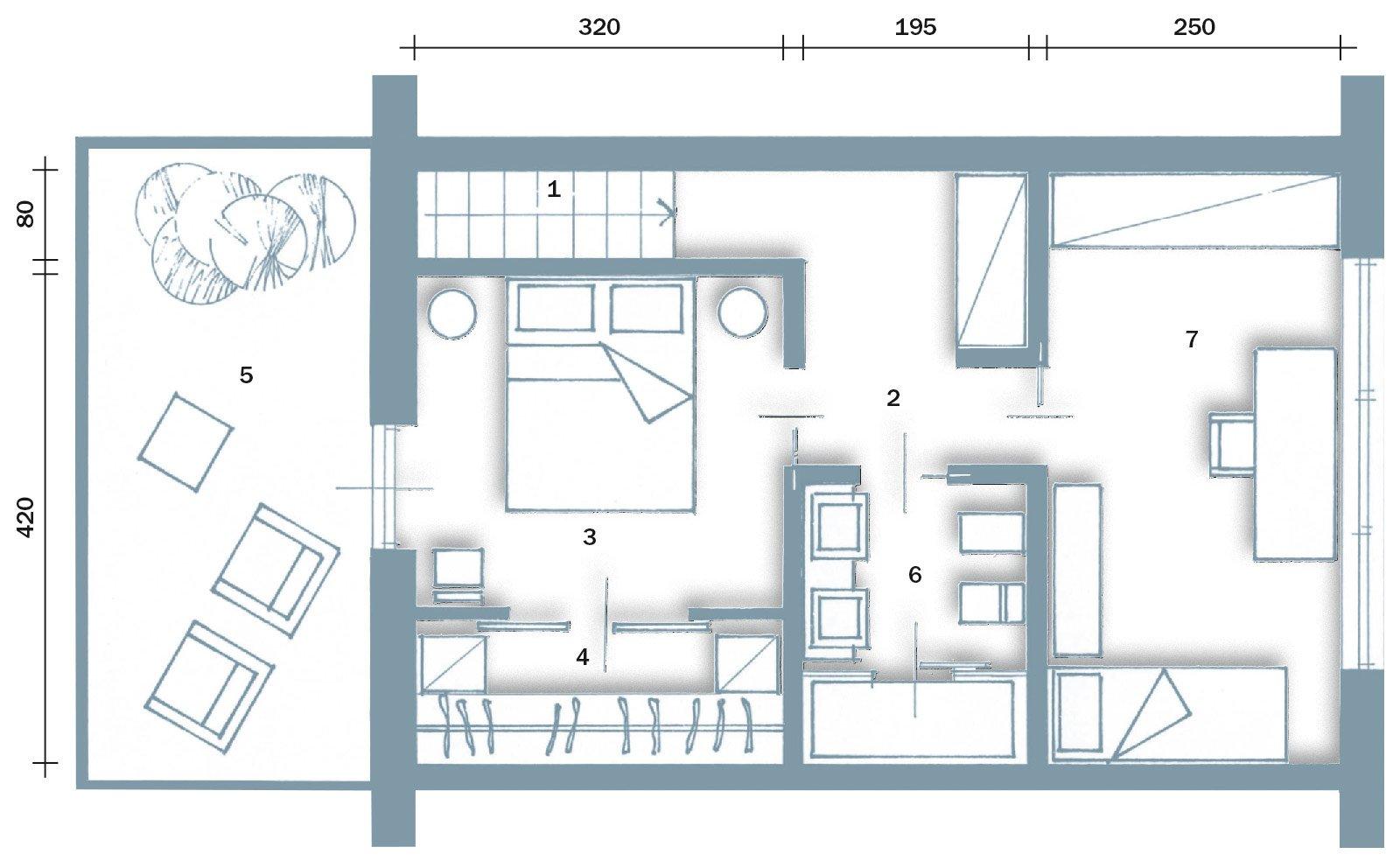 Una casa alla ricerca della luce cose di casa - Planimetria camera da letto ...
