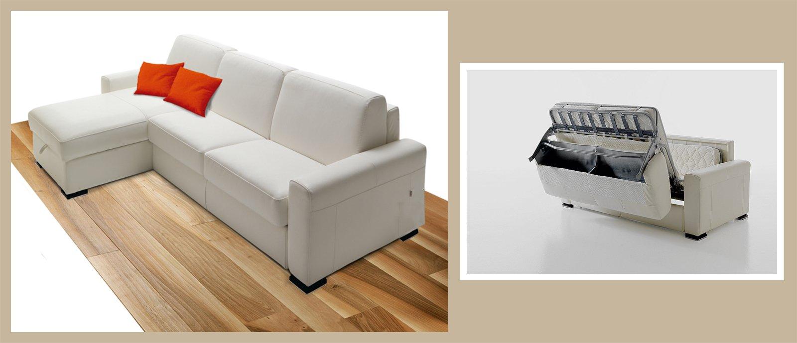 Divano o letto imbottiti trasformabili cose di casa - Copridivano per divano con chaise longue ...