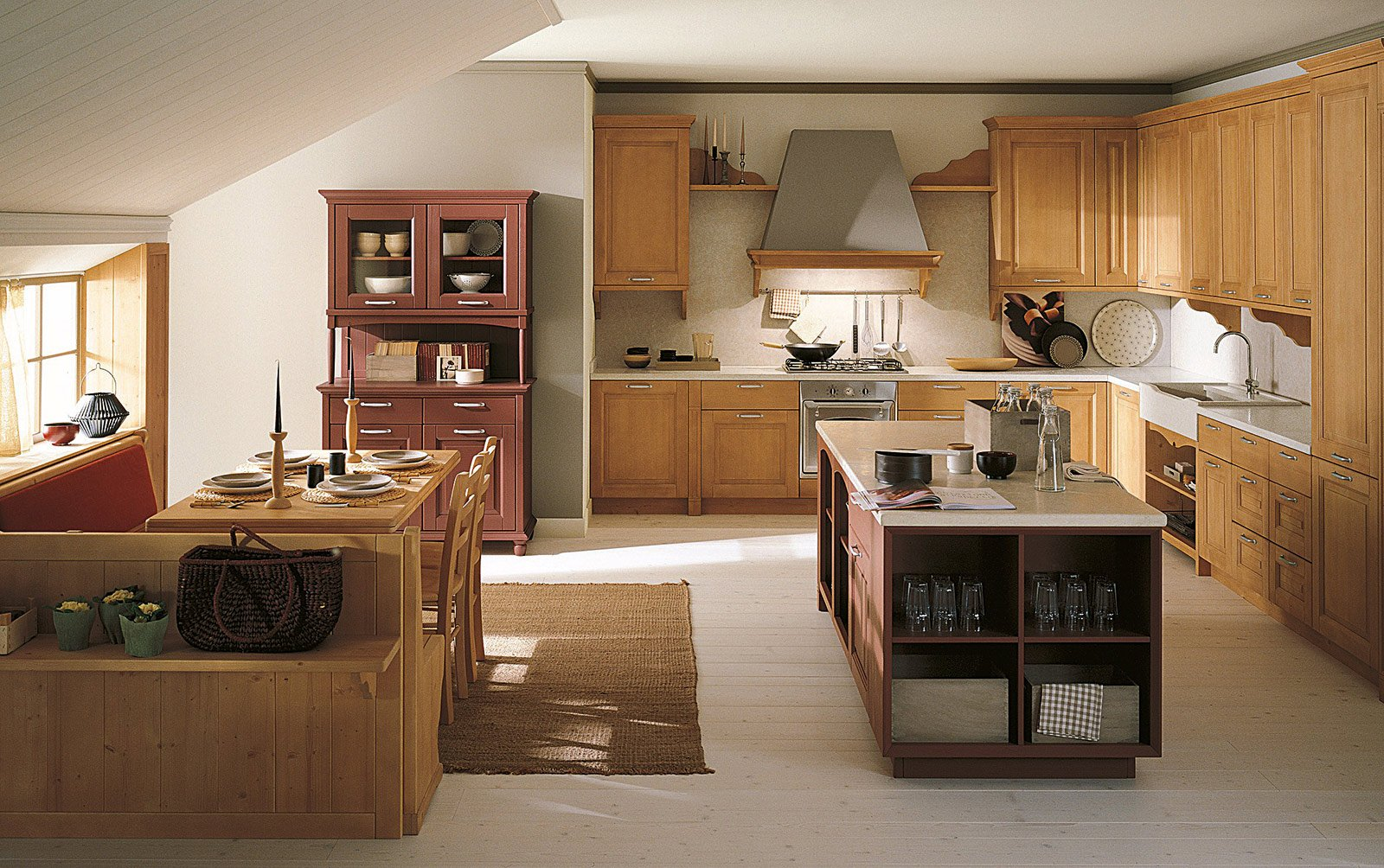 Cucine country stile tradizionale o new classic cose di for Planimetrie rustiche