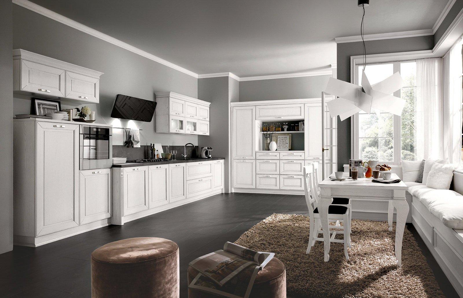 Cucina la voglio tutta bianca cose di casa for Cucina classica bianca