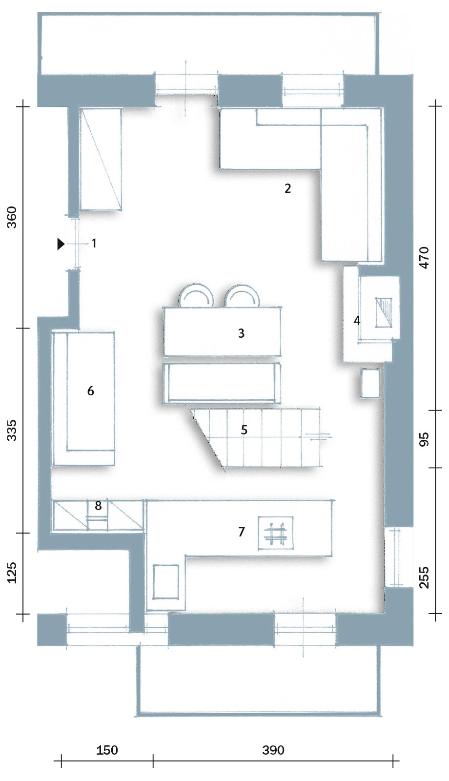 Atmosfera da chalet in una casa moderna cose di casa - Disegno pianta casa ...