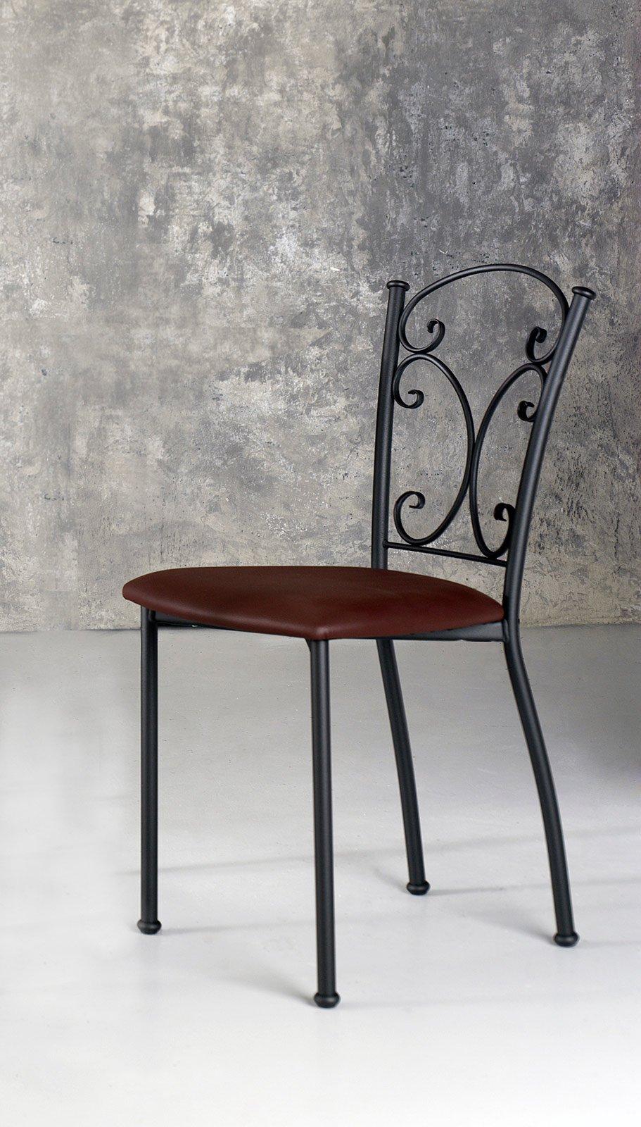 sedie soggiorno ecopelle: sedia imbottita in ecopelle clara di ... - Sedie Soggiorno Imbottite 2