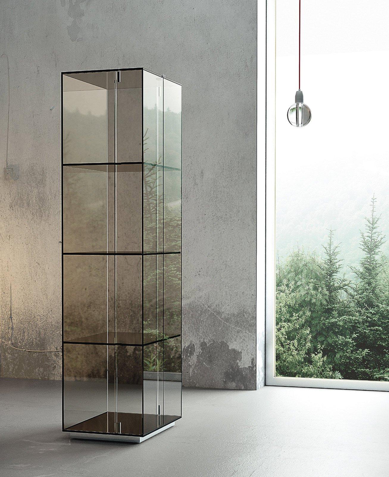 mobili con anta in vetro - cose di casa - Soggiorno Ad Angolo Moderno 2