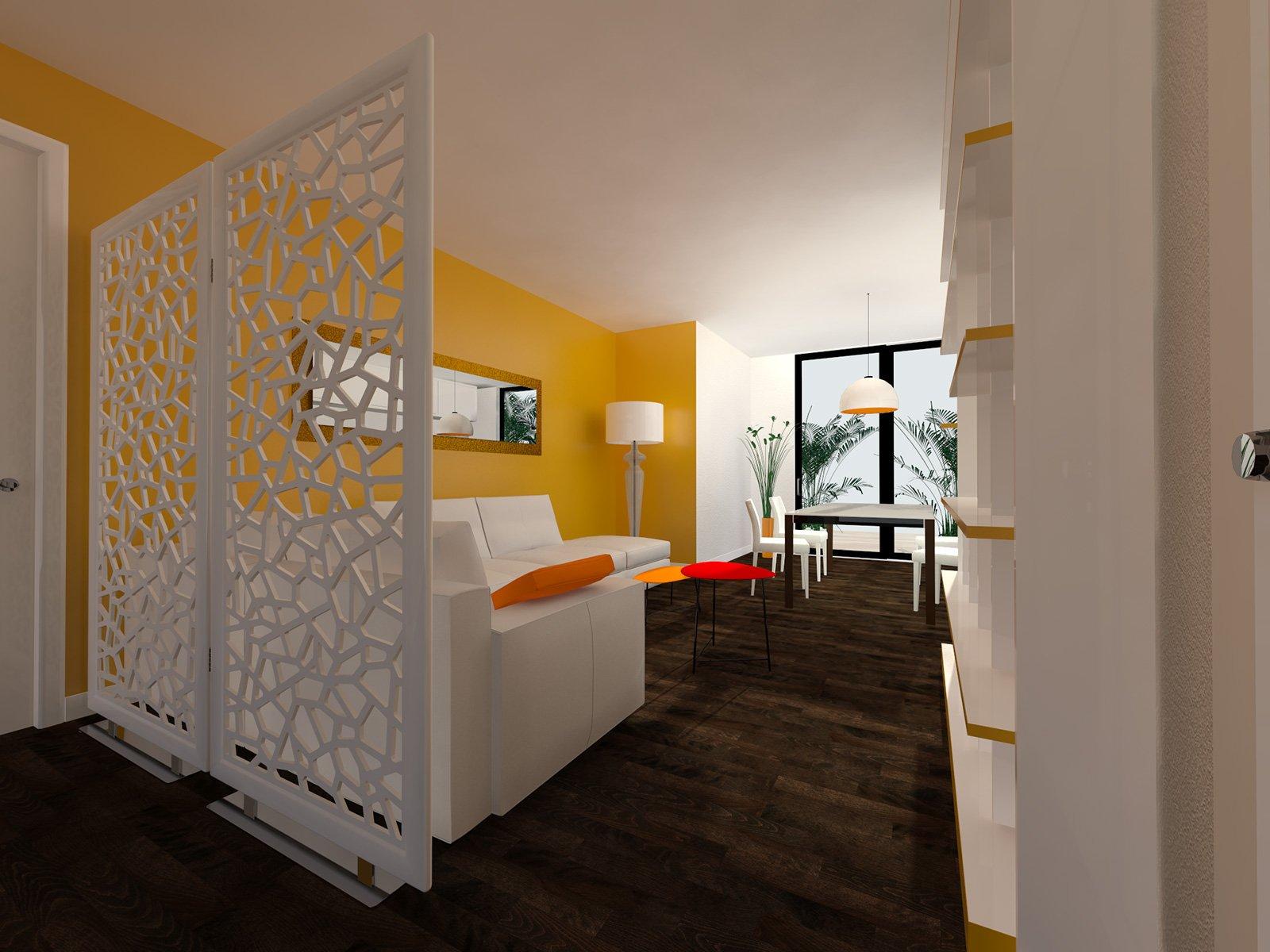 Come dividere ingresso e soggiorno pianta e prospetto in for Idee per dividere cucina e soggiorno