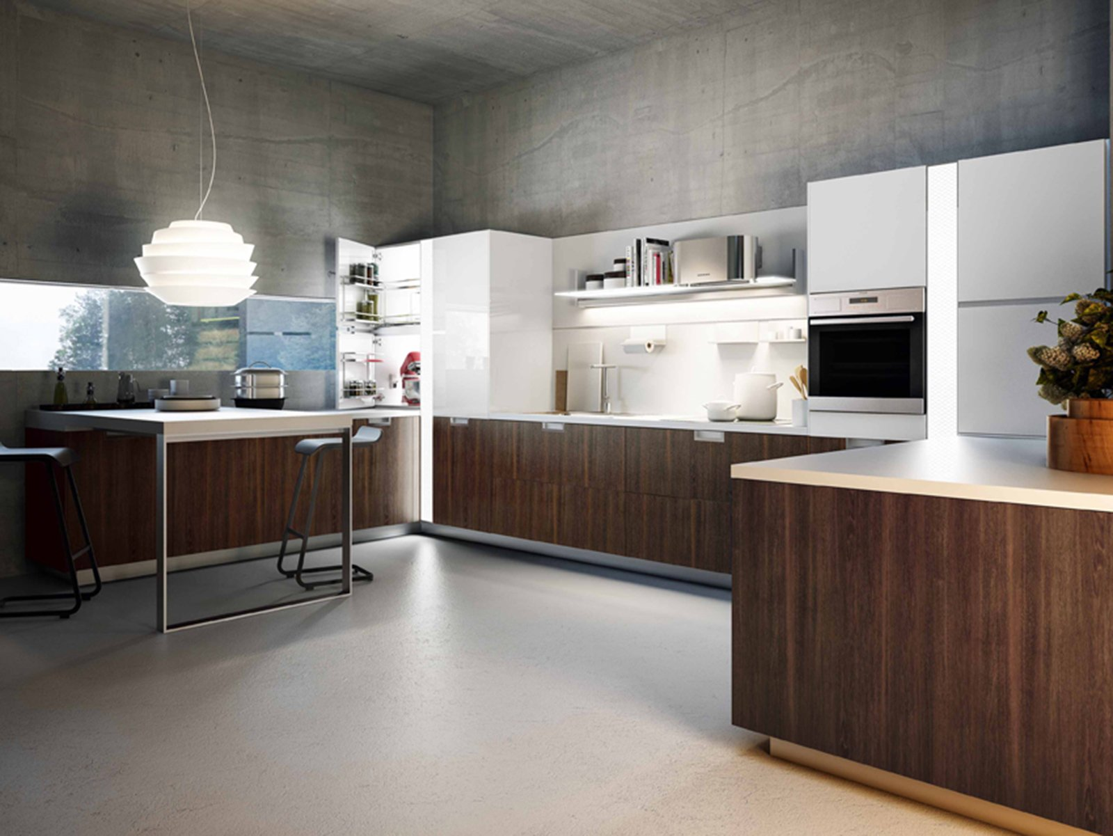 Cucina tante soluzioni per illuminarla cose di casa for Snaidero kitchen