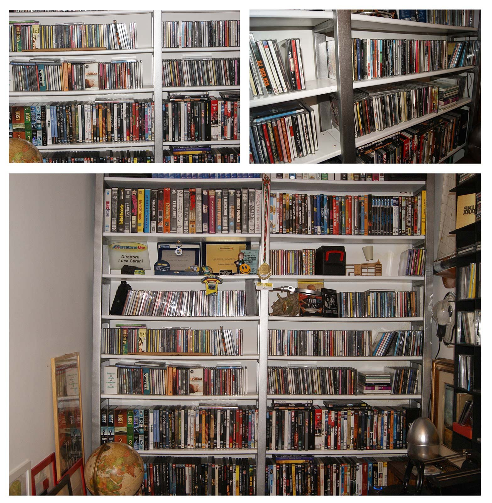 La videoteca libreria in ferro zincato e legno cose di casa for Piano casa per 1000 piedi quadrati