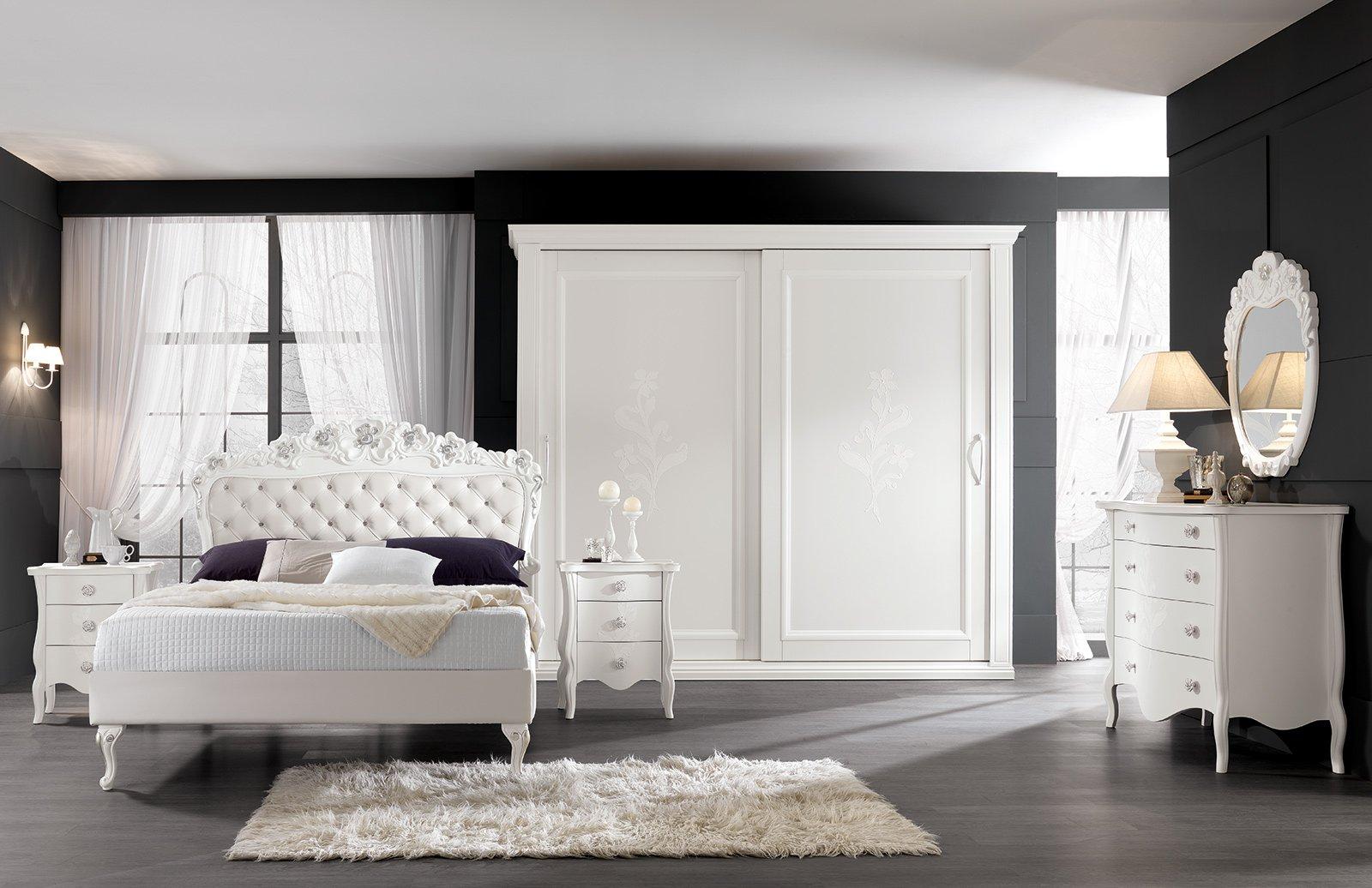 Letti imbottiti capitonn in versione classica cose di casa - Letto legno bianco ...