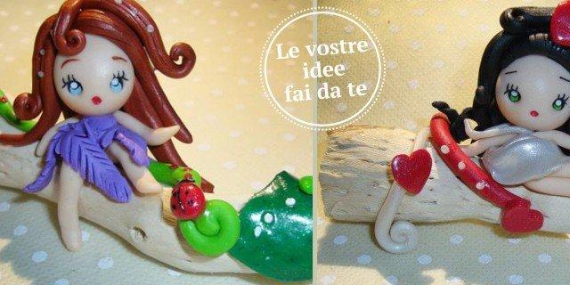 Per La Stanza Delle Bimbe, Fatine Decorative Di Pasta Fimo