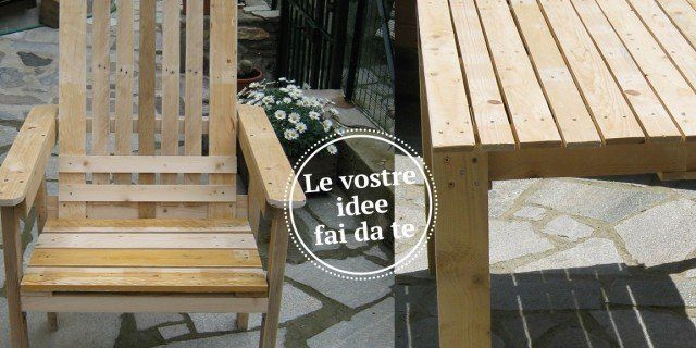 Un set da giardino fatto con materiale di recupero cose di casa - Lavori in casa fai da te ...