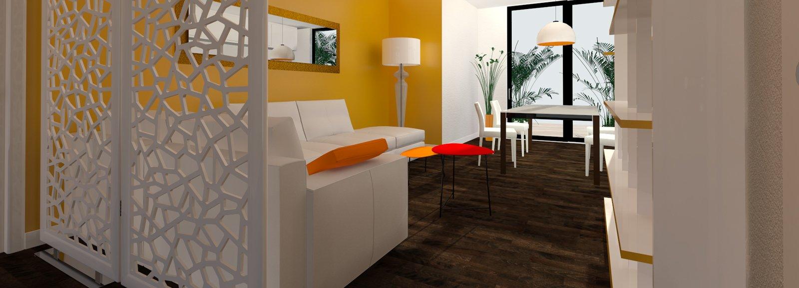 Come dividere ingresso e soggiorno pianta e prospetto in for Decorazione entrata casa