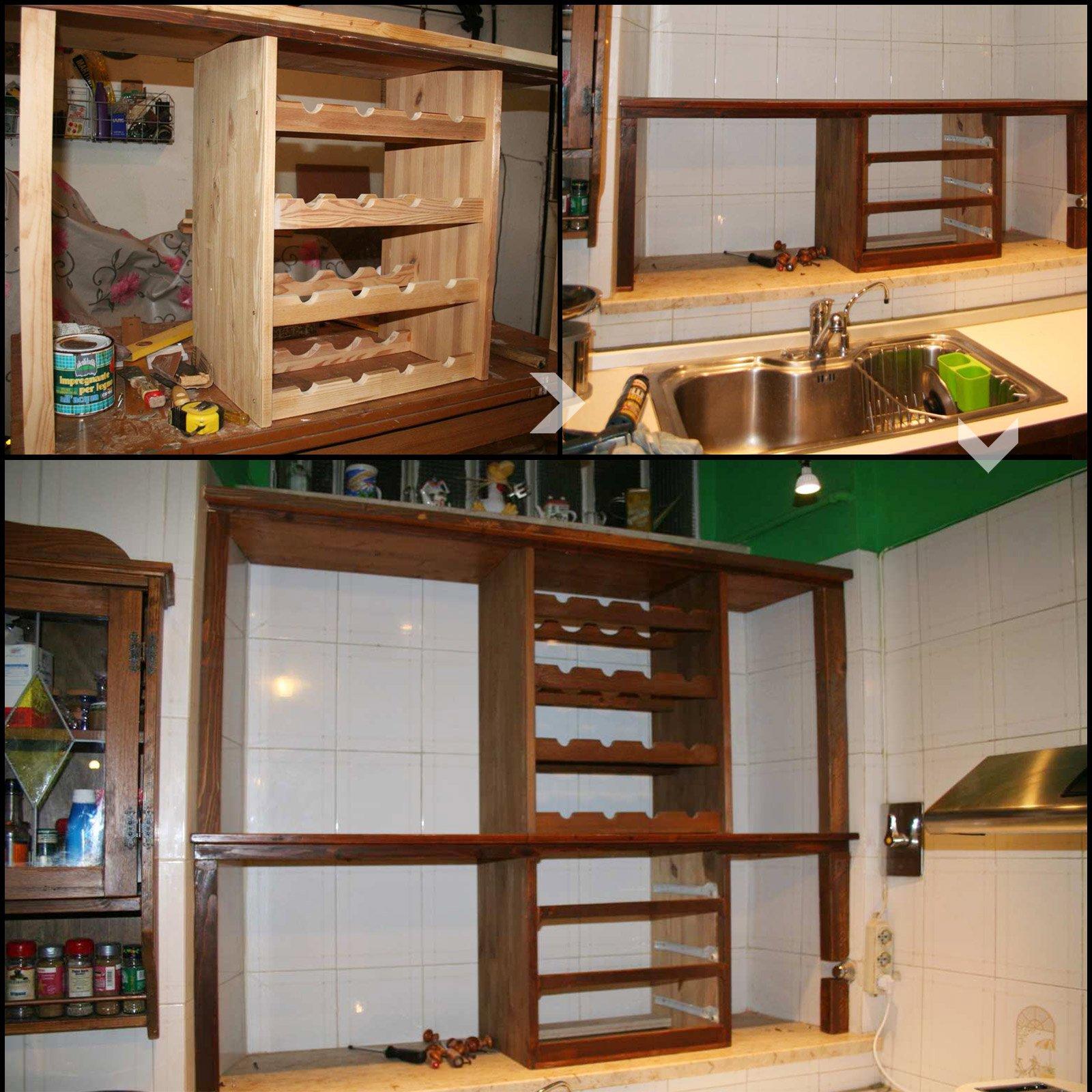 Il mobile cucina che sfrutta la nicchia cose di casa - Parete in legno fai da te ...