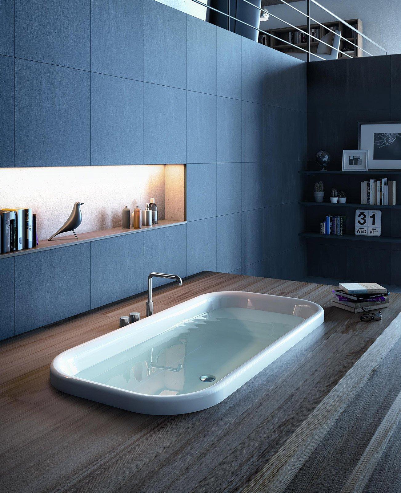 Vasche idromassaggio bollicine di benessere cose di casa - Vasche da bagno ad incasso ...