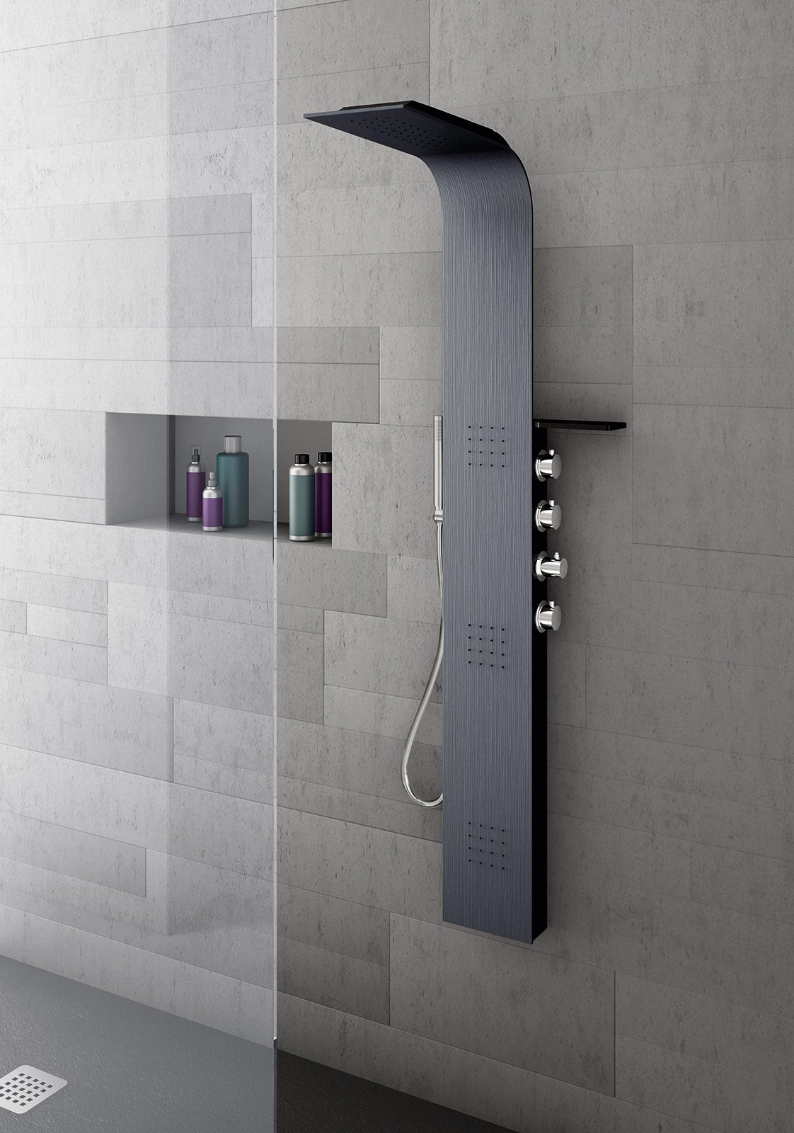Colonne doccia multifunzione cose di casa - Portaoggetti bagno ...